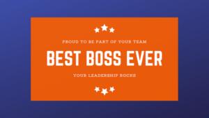 ¿Admiras a tu jefe?